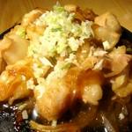 絶品!プルプルで口の中でとろける食感、自家製ダレで漬けて素材の旨みを桜島溶岩の遠赤外線の熱で引き立てた絶品