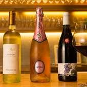 イタリア産をベースに国産ワインも豊富