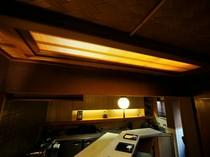 京都にある割烹料亭を思わせる内観