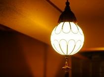 極上のひとときを楽しんでもらうため、照明にもこだわります