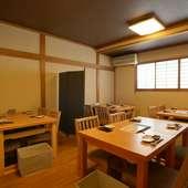 会議の続きは、2Fにある個室でお食事をしながらごゆっくりと