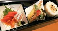 お造り・焼き物・天麩羅・茶碗蒸し・お漬物・サラダ・ごはん・お味噌汁