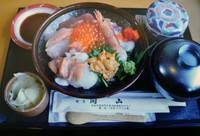 ざるそば・天麩羅・茶碗蒸し・寿司3貫・薬味