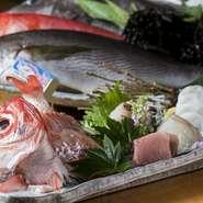 水揚げされたばかりの新鮮な「海の幸」も【旬彩 心粋】のこだわりのひとつ。今が旬の魚を使った『本日の刺身』は店内にてご案内しております。要チェックです。