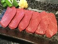 新鮮な心臓の肉刺し