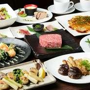 ステーキのコースに加え、鮑、伊勢海老、フォアグラの懐石など、コースは多数。一番人気はコスパ抜群の『特撰黒毛和牛ロースコース』。この価格でこのレベルのお肉はそうそう、食べられません。