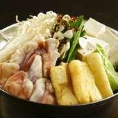 素材の持ち味を存分に生かした、和牛『もつ鍋』が人気!
