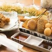 串あげは、とんかつ/居酒屋【田】の味を象徴する逸品です!
