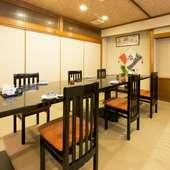 和を基調とした店内には、個室や座敷もありくつろげます