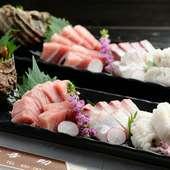 たくましい鳴門の魚を味わう『旬魚盛り合わせ』