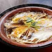 玉子で旨味をとじこめた『どじょう柳川鍋』