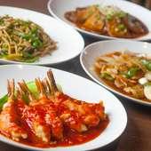 新鮮野菜の美味しさが際立つ中華料理の数々