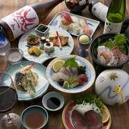寿司・刺身などの魚介類をメインに自家製ローストビーフなど肉料理も増えました! デザートも自家製アイスクリームやぜんざい、プリンなど女子、男子問わず人気です