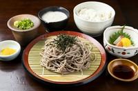 塩サバ/自然薯のお刺身/小鉢/自然薯とろろ汁/赤だし/香の物/ご飯