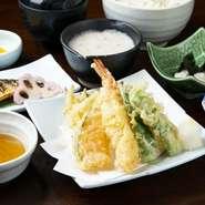 塩サバ/自然薯のお刺身/小鉢/自然薯とろろ汁/ご飯/赤出し/デザート