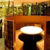 落ち着いた和のイメージした個室空間!