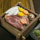 柔らかくジューシーなお肉『牛しゃぶせいろう4500円コース』