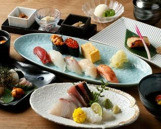 北海道の食材と全国の旬の食材を同時にお楽しみください。