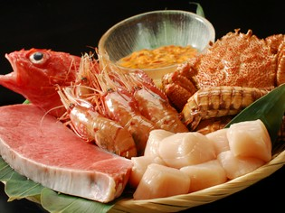 7割を占める北海道から直送される、鮮度にこだわった食材