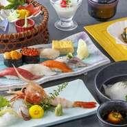 政寿司自慢の食材をふんだんに使用したディナーコースです。お昼でもご用意できます。 料理7品のコースです。新宿新南口での歓送迎会・会食・接待・各種ご宴会に!