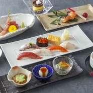 政寿司の定番コースです。当日お昼も夜もお気軽にご注文できます。