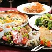 厳選した食材を使った、バラエティー豊かな料理が楽しめます