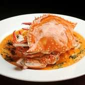 濃厚な味わいの、ぜいたくな『渡り蟹のトマトクリームソース』