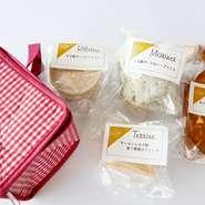 日替わりお惣菜も小皿で盛り付けています
