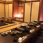 大小さまざまな宴会が可能。団体様用、大小個室あり。