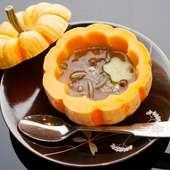 『じゅんさい かぼちゃの器にいれて』(季節限定)