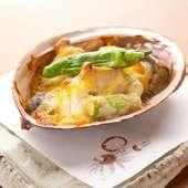味噌の甘い香りと、鮑の食感が食欲を誘う『鮑の味噌風味焼』