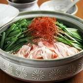 一口食べるごとに体の芯からほっこり暖まる『もつ鍋』