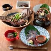 季節の移ろいを感じさせる、本格和食が種類豊富
