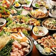 今が旬の食材のみを使った料理をそろえた季節限定コース!贅沢に旬の食材をつかったお料理は、料理長自ら選んだ厳選食材が多数。定番のお刺身から秘伝のタレを使った地鶏のチャーハンなど老若男女どんなお客様にもご満足頂けるとても人気のコースです☆お値段も2980円とリーズナブルなので、突然宴会が決定されたときなどにも安心してご利用頂けます。その他食べ飲み放題コースなど種類豊富にご用意!