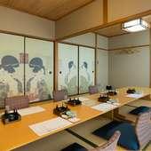 大小の職場の宴会や、親族の集まりなどに利用しやすい座敷席