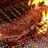 シチリアの塩を使った『おすすめ お肉の炭火焼き』