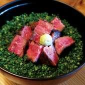 国産牛ステーキのひつまぶし ~ステーキ丼でお召し上がり頂き、最後にお茶漬けで~