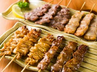 山形県ブランド豚肉「天元豚」のさまざまな部位を使った『串焼』