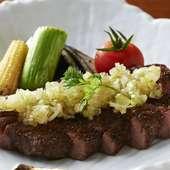 ボリュームがあり食べごたえがある『牛タンのステーキ』