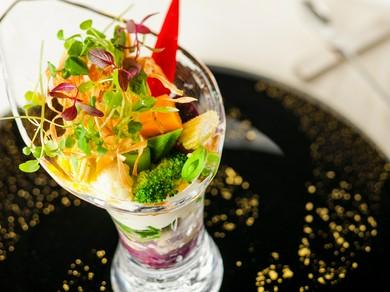 1皿目の前菜『野菜のパフェ』
