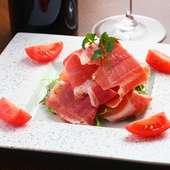 お酒にピッタリのおすすめ前菜 『生ハムサラダ』
