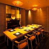 「竹の間」は8名用の個室としても利用可能