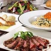 彩り美しいお料理一品一品が、素敵なひとときを演出します