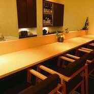 カウンター席もご用意しており、ランチや会社帰りに一杯いかがですか?