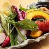 ヘルシーな野菜もふんだんに、美味しいメニューがそろい踏み
