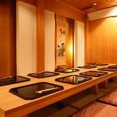 接待や記念日などにおすすめプライベート空間、離れ個室「嵐山」