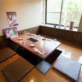 テーブル席・掘りごたつ・お座敷ともにゆったり座れるスペース