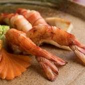 『活才巻き海老』は目にも鮮やかで食欲をそそります
