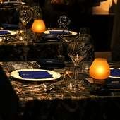 美食の殿堂にふさわしい、種々のセッティングに感激