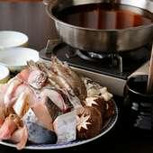 いろいろな海の幸を豪快に楽しめる『漁師鍋』